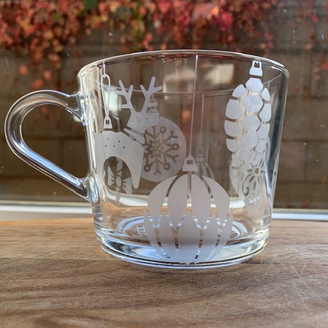 mug ornaments deer